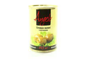 Оливки Angelo зелені з/к 425мл