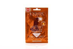 Крем-автозагар для лица и тела 3 в 1 светлая кожа Selftan Eveline 15мл