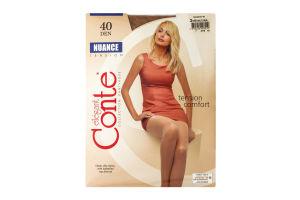 Колготки жіночі Conte elegant Nuance №8С-37СП 40den 3-М natural