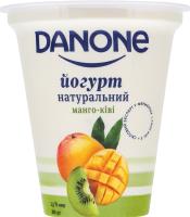 Йогурт 2.5% натуральний Манго-ківі Danone ст 260г