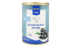 Оливки чорні без кісточки Metro Chef з/б 400г