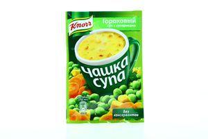 Суп быстрого приготовления Гороховый с сухариками Чашка супа Knorr м/у 21г