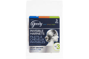 Goody Invisible Hairnets Light Brown - 3 CT