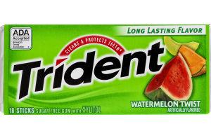 Trident Sugar Free Gum Watermelon Twist - 18 CT