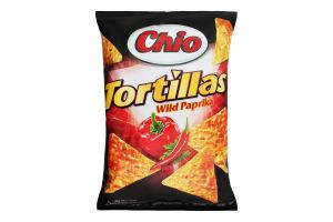 Чипсы кукурузные со вкусом дикой паприки Tortillas Chio м/у 125г