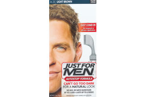 Just For Men Autostop Formula Easy Comb-In Haircolor A-25 Light Brown