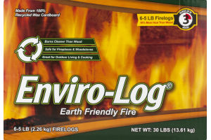 Enviro-Log Earth Friendly Firelogs - 6 CT