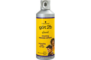 Schwarzkopf Got2b Glued 4 Blasting Hold Freeze Spray