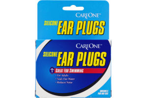 CareOne Ear Plugs Silicone - 6 CT