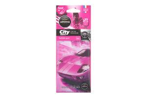 """Ароматизатор """"Aroma Car City"""", жувальна гумка 1шт /Мотоспорт/"""