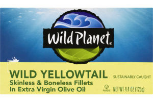 Wild Planet Wild Yellowtail Skinless & Boneless Fillets In Extra Virgin Olive Oil