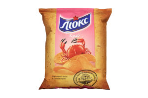 Чіпси картопляні зі смаком краба Люкс м/у 71г