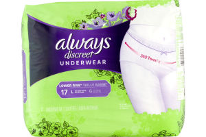 Always Discreet Underwear Low Rise - 17 CT