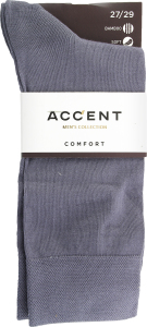 Шкарпетки чоловічі Accent №002233332729 42-43 сірий стальний