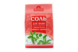 Соль для ванн с эфирным маслом чайного дерева Желана 500г