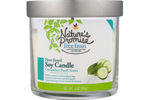Nature's Promise Soy Candle Cucumber Basil
