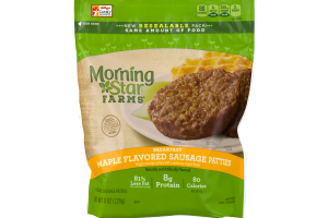 Morning Star Farms Breakfast Sausage Patties Maple Flavored - 6 CT