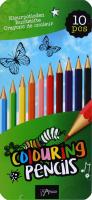 Н-р карандашей разноцветных металл пенал 10шт