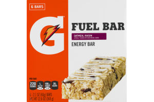 Gatorade Fuel Bar Oatmeal Raisin - 6 CT