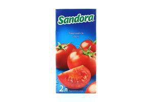 Сок Томатный с солью Сандора 2л