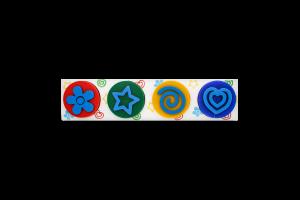 Набір для творчості для дітей від 3років №TA1400 Пальчикові фарби зі штампиками Genio Kids 1шт