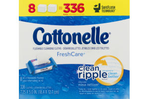 Cottonelle FreshCare Flushable Cleansing Cloths - 8 PK