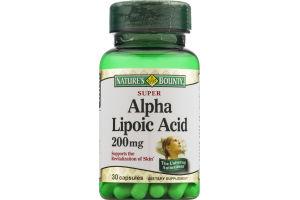 Nature's Bounty Alpha Lipoic Acid 200mg Capsules - 30 CT
