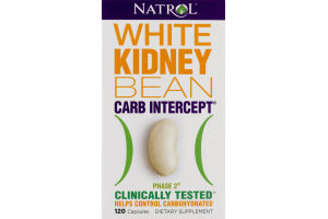 Natrol White Kidney Bean Carb Intercept Phase 2 Dietary Supplement Capsules - 120 CT
