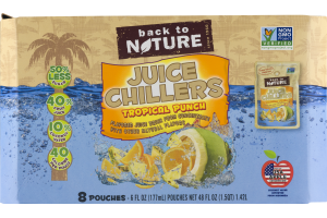 Back To Nature Juice Chillers Tropical Punch - 8 CT