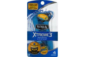 Schick Xtreme 3 Refresh Razors - 4 CT