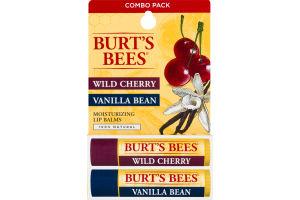 Burt's Bees Moisturizing Lip Balm Combo Pack Wild Cherry/Vanilla Bean - 2 PK