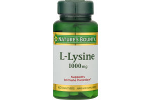 Nature's Bounty L-Lysine 1000 MG - 60 CT