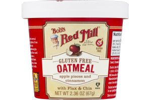 Bob's Red Mill Gluten Free Oatmeal Apple Pieces and Cinnamon with Flax & Chia
