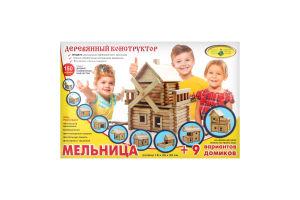 Конструктор Млин дерево 118 деталей Київська фабрика іграшок