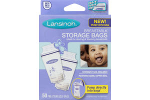 Lansinoh Breastmilk Storage Bags - 50 CT