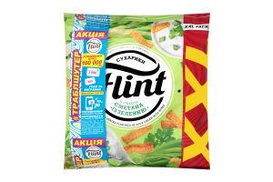 Сухарики пшенично-ржаные со вкусом сметаны с зеленью Flint м/у 150г
