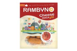 Сир плавлений 45% копчений з шинкою Rambyno д/п 75г