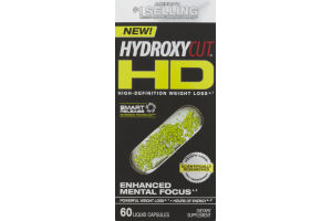 Hydroxycut HD Enhanced Mental Focus - 60 CT