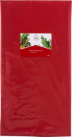 Smart Living Holiday Plastic Table Cover Red