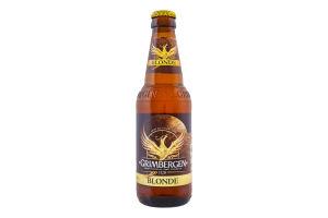 Пиво специальное 0.33л 6.7% светлое пастеризованное Blonde Grimbergen бут