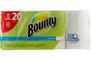Bounty Select-A-Size Paper Towels Huge Rolls - 8 CT