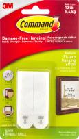 Command Damage-Free Hanging Medium Picture Hanging Strips White - 4 CT