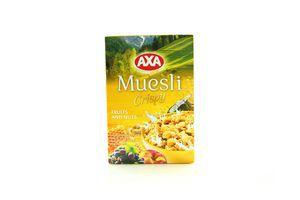 Мюсли медовые с фруктами и орехами к/у Axa 375г
