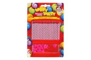 Свічки для торту магічні №P67-6153 Happy Party Помічниця 18шт