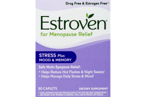 Estroven Stress, Mood & Memory Multi-Symptom Menopause Relief Dietary Supplement Caplets - 30 CT