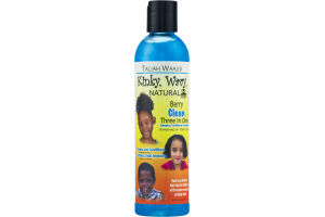 Taliah Waajid Kinky, Wavy Natural Berry Clean Three In One Shampoo, Conditioner & Softener