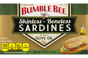 Bumble Bee Skinless Boneless Sardines in Pure Olive Oil