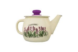 Чайник эмалированный 1л №2707/2 Lavender Idilia 1шт