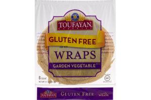 Toufayan Bakeries Gluten Free Wraps Garden Vegetable - 6 CT