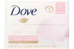 Dove Beauty Bar Pink - 2 CT